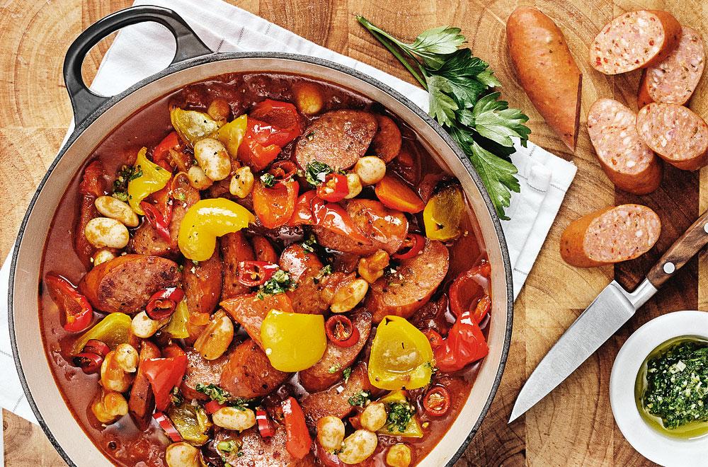 chili bönor recept